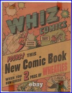 1946 Whiz Comics Miniature Wheaties Edition #nn (#1) Captain Marvel! Ibis! RARE