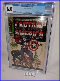 1968 Captain America # 100 Cgc 6.0black Pantherjack Kirby Artnice Book