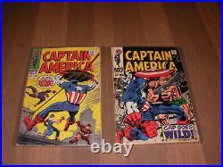 1968 Captain America # 101 to # 133 Marvel Comics Silver Age 31 comic books