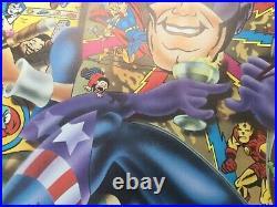 1971 Alan Aldridge AAAARCH Marvel Comics ICA Poster Captain America etc Hapshash