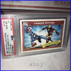 1990 Marvel Universe Box Captain America vs Wolverine PSA 10 Comics Card