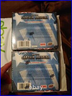 2011 Marvel Captain America 1st Avenger sealed Retail card 2 box Lot Upper Deck