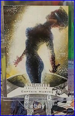 2021 Marvel Black Diamond Exquisite Mick Matt Glebe 1/1 Sketch Captain Marvel
