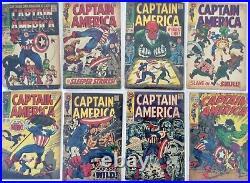 22 x COMIC LOT CAPTAIN AMERICA # 100 125 MARVEL SILVERAGE # 117 1st FALCON VG
