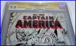All-New Captain America #1 CGC SS Signature Autograph STAN LEE SCOTT CAMPBELL