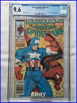 Amazing Spider-Man #323 CGC 9.6 (1990) NEWSSTAND Captain America MARVEL Comics