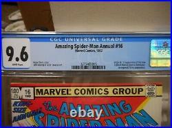 Amazing Spiderman Annual 16 cgc 9.6 1st appearance Monica Rambeau Captain Marvel