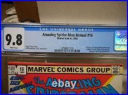 Amazing Spiderman Annual 16 cgc 9.8 1st appearance Monica Rambeau Captain Marvel