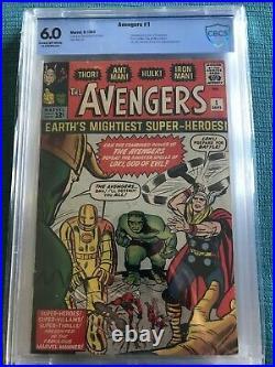 Avengers 1 Cbcs Graded 6.0 + 4 Captain America Looks Vf Same As Cgc Unrestored