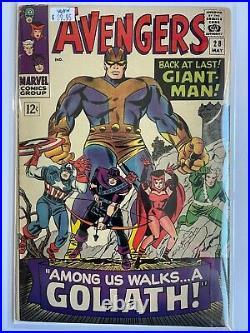 Avengers #28 1st App The Collector Iron Man Thor Captain America Marvel Comics