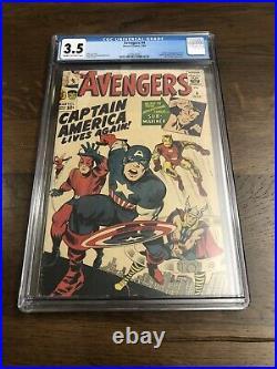 Avengers 4 1st Captain America In SA. CGC 3.5 Key Book