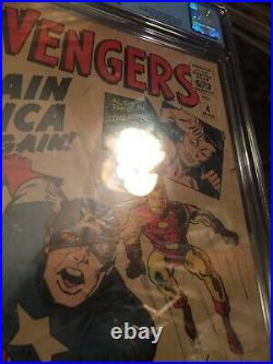 Avengers #4 CGC 1.8 OWithW 1st Silver Age Captain America! Stan Lee & Jack Kirby