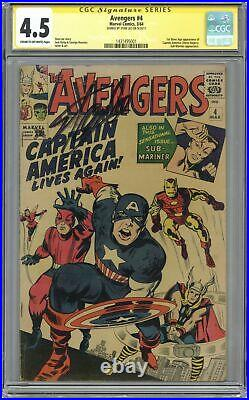 Avengers #4 CGC 4.5 SS 1964 1431495001 1st Silver Age Captain America and Bucky
