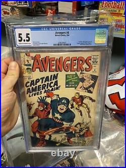 Avengers 4 CGC 5.5 1st SA Captain America Key