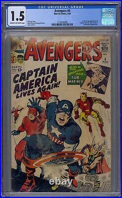 Avengers #4 Cgc 1.5 1st Silver Age Captain America