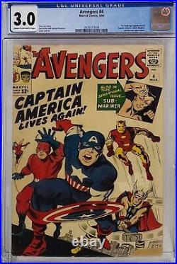 Avengers #4 Cgc 3.0 1st Silver Age Captain America 008