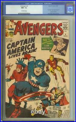 Avengers #4 Cgc 9.2 Ow Pages // 1st Silver Age Captain America