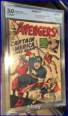Avengers 4 Cgc Cbcs 3.0 Looks Vf- 7.5 Best On Ebay 1 St Captain America Wow