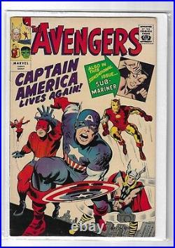 Avengers # 4 GRR Fine Plus (1st Silver Age Captain America)