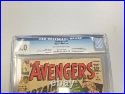 Avengers #4 March 1964 CGC 3.0 1st Silver Age Captain America Sub-Mariner