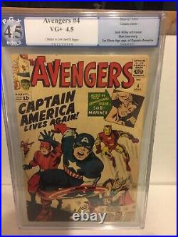 Avengers #4 PGX 4.5 (First Silver Age appearance of Captain America)