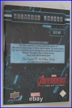 Avengers Age Of Ultron Hulk & Captain America Costume Card Mark Ruffalo SIGNED