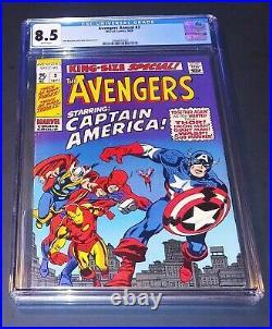 Avengers Annual Comic #3 Marvel 1969 CGC 8.5 Captain America Thor