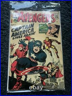 Avengers Captain America Lives Again No. 4 Marvel Collectors Comic
