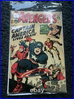 Avengers Captain America Lives Again No. 4 Marvel Collectors Comic