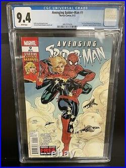 Avenging Spider-man #9 Cgc 9.4 1st Carol Danvers As Captain Marvel Marvel Comics