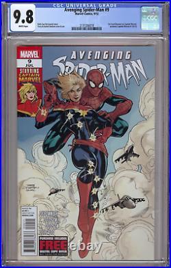 Avenging Spider-man 9 Cgc 9.8 1st Carol Danvers Captain Marvel 2 Movie Plot