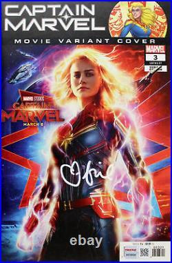 Brie Larson Autographed'Captain Marvel' Comic #3 Movie Variant Edition TRISTAR