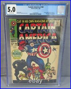 CAPTAIN AMERICA #100 (1st Issue, Black Panther app) CGC 5.0 VG/FN Marvel 1968