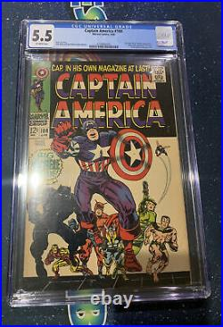 CAPTAIN AMERICA #100 CGC 5.5 OW Pages 1st Appearance Of Black Panther