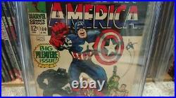 CAPTAIN AMERICA #100 CGC Silver Age Marvel Key Comic JACK KIRBY & Stan Lee