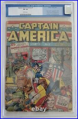 CAPTAIN AMERICA COMICS 1 CGC 1.0 0050815001 1st app Captain America