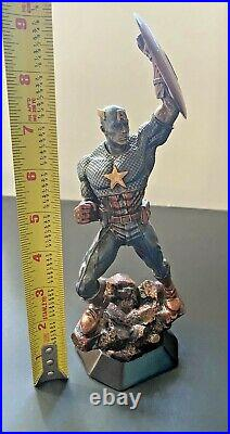 CAPTAIN AMERICA RESIN STATUE Bronze Finish, COA, Marvel Comics! Never displayed