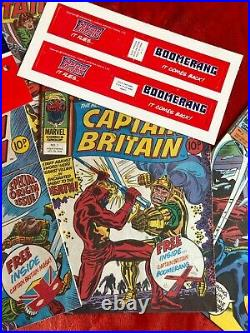 CAPTAIN BRITAIN #1,2,4,5 &10 1st Captain Britain with Mask & Boomerang Lot of 5