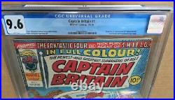 CAPTAIN BRITAIN #1 First Appearance & Origin CGC 9.6 White Pages With Mask