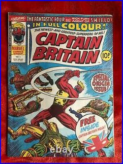 CAPTAIN BRITAIN #1 Lovely High Grade Copy 1st App Captain Britain with Gift Mask
