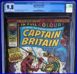 CAPTAIN BRITAIN #2 (Marvel 1976) CGC 9.8 WHITE PGs SCARCE 1 OF ONLY 9