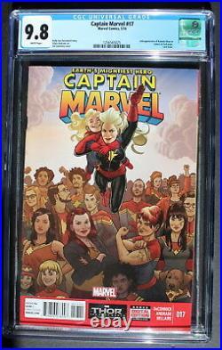 CAPTAIN MARVEL #17 2nd cameo KAMALA KHAN Muslim Teen MS MARVEL 2014 CGC NMMT 9.8
