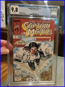 CAPTAIN MARVEL #1 1989 1st Monica Rambeau SOLO Comic CGC 9.8 15 on Census