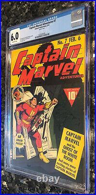 CAPTAIN MARVEL ADVENTURES #7 FINE golden age comic CGC Blue label 6.0 C. C. BECK