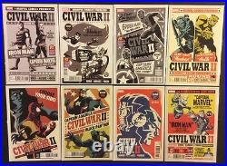 CIVIL WAR II #1 -8 Complete VARIANTS Death Hulk CAPTAIN MARVEL 70 Comics Promos