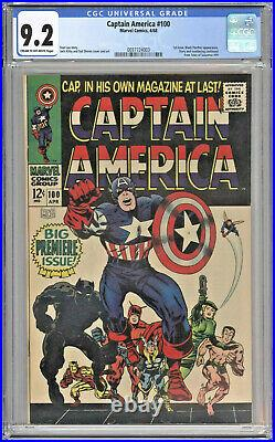 Captain America #100 1968 Cgc 9.2 Stan Lee Black Panther Silver Age Marvel Comic
