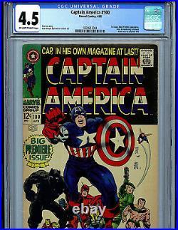 Captain America #100 CGC 4.5 Marvel Comics 1968 Black Panther K9