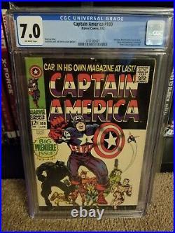 Captain America 100 CGC 7.0