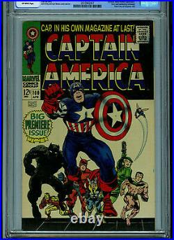 Captain America #100 CGC 7.0 Marvel Comics Black Panther Amricons K20