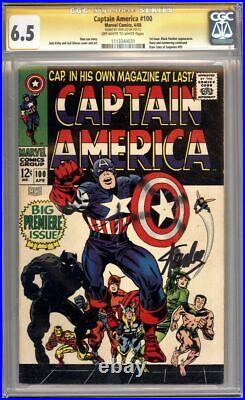 Captain America #100 Cgc 6.5 Signature Series Signed Stan Lee Marvel Comic